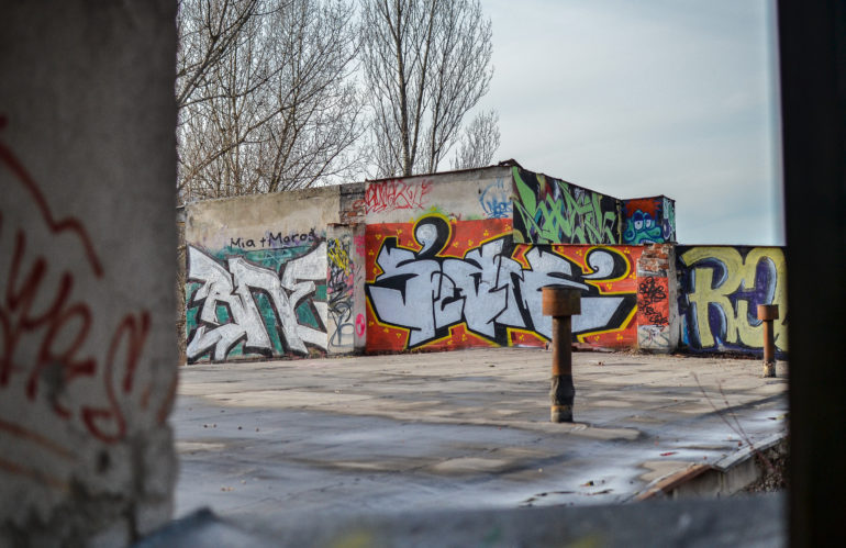 Graffiti in abandoned area