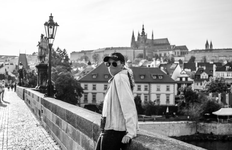 Black & White portraits with my love in Prague during lockdown.